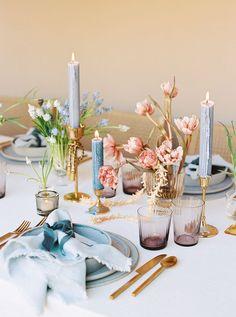 Branding Editorial Photo Shoot for Lavenders Flowers | Santa Ana, CA - kimbranagan.com Wedding Table, Our Wedding, Dream Wedding, Destination Wedding, Floral Wedding, Wedding Colors, Wedding Flowers, Table Setting Inspiration, Wedding Inspiration