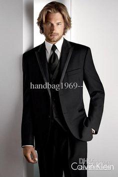 Wholesale Black Wedding/Prom Suits amp; Tuxedo Groom Tuxedos Wedding Groomsman (JacketPantsTieVest) A:137, Free shipping, $98.1-136.85/Piece | DHgate