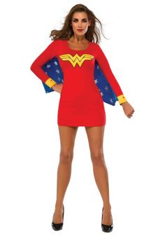 This Women's Wonder Woman Wings Dress lets you live out your fantasy of being a superhero. It's great for a night out on the town, or for some crime fighting.