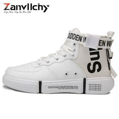 f0d85d4cf639b Zanvllchy New 2019 High Top Sneakers Winter Autumn Men Casual Shoes  Breathable White Shoes Black Chaussure Homme Zapatos Hombre
