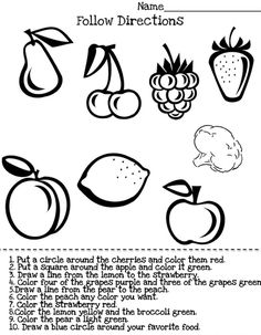 Following Directions Activity - -  Pinned by @PediaStaff – Please Visit http://ht.ly/63sNt for all our pediatric therapy pins