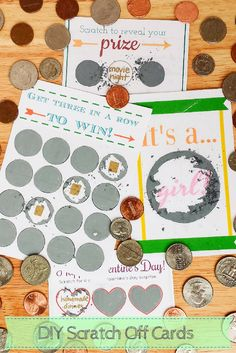 How to Make Scratch Off Cards Using Paint, Dish Soap, and Packing Tape - Make Scratch Offs for Any Occasion - Free Printable Scratch…