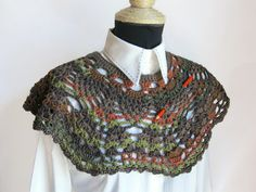 Pineapple Crochet Scarf Cowl Neckwarmer Shrug Capelet by KrissWool, $63.00