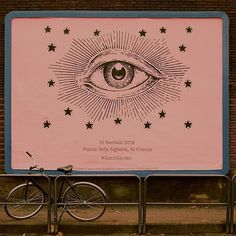 Spotted around Florence, pink posters announce the opening of the #GucciGarden. The Gucci eye is the symbol of the new space conceived by #AlessandroMichele, which celebrates the House's rich archive and the work explored under the new vision in a hypnotic, interactive experience. Located inside Florence's historic Palazzo della Mercanzia #GucciGarden features Gucci Garden Galleria, exhibition rooms curated by curator and critic Maria Luisa Frisa (@lafrisa), the Gucci Osteria da Massimo… Layout Inspiration, Graphic Design Inspiration, Design Art, Print Design, Branding Design, Packaging Design, Typography Art, Art Inspo, Illustration Art