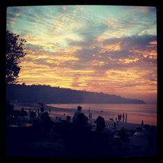 Bella seafood jimbaran sunset view
