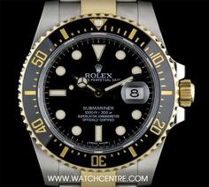 #Rolex S/S & 18k Y/G O/P Black Ceramic Bezel #Submariner Date B&P #116613LN