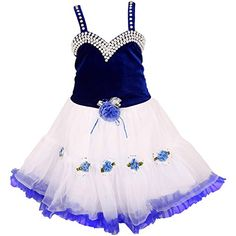 f23829cee29 Buy Wish Karo Baby Girl s Party Wear ock Dress DN online in India at best  price. It has Pearl Work on neckline Work Made of Fabric   Net It has satin  and ...