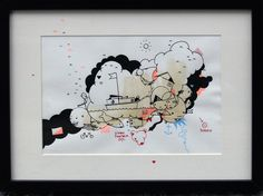 Artist Simon Fensholm: Markers and acrylics on paper.