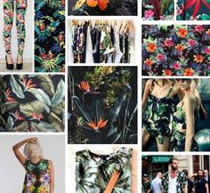 This print trend is a darker take on tropical prints Ss15 Trends, 2014 Fashion Trends, Color Patterns, Print Patterns, Color Trends, Color Inspiration, Graphic Prints, Tropical Prints, Florals