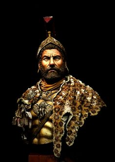 Hannibal Barca Bust by Fabio Naskino Fiorenza · Putty&Paint Conquistador, Hannibal Barca, Heroes And Generals, Old Warrior, Punic Wars, Ancient World History, African Royalty, Desert Art, Ancient History
