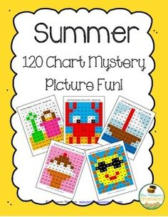 Students will love discovering the mystery pictures while they practice place value and recognizing colors and numbers on a 120 chart. Use the key . End Of School Year, School Fun, Summer School, School Ideas, Math School, School Stuff, Kindergarten Classroom, Teaching Math, Teaching Ideas