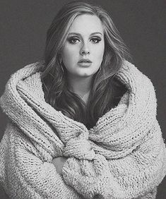 the voice. the look. the SWEATER! totally diggin' Adele!