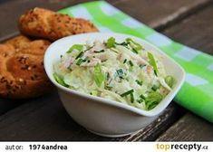Kedlubnový salát se šunkou a cottage No Salt Recipes, Cooking Recipes, Vegetable Salad, Junk Food, Guacamole, Potato Salad, Grilling, Cabbage, Food And Drink