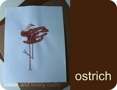 ostrich handprint craft