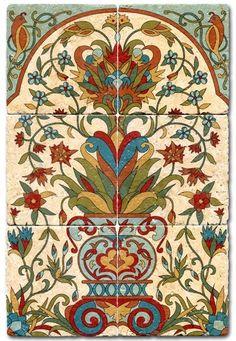 Bella Flora Tile Mural