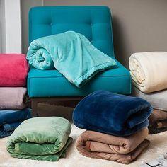 Cobertor Casal Flannel com Borda em Percal - Casa & Conforto