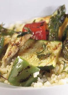 Salada Morna de Couscous e Legumes Grelhados