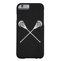 iPhone 6 case with a silhouette of a crossed lacrosse sticks. it with a name and/or number for that personal touch. This design is available in different colors and on other products at my store. #lacrosse #lax #stick #sticks #woman #girls #team #sports #goal #player #college