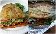 """""""Patacon"""" slice of fried banana or plantain with many ingredients on it!"""