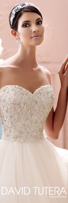 The David Tutera for Mon Cheri Spring 2015 Wedding Dress Collection - Style No. 115250 Luca   davidtuteraformoncheri.com  #weddingdresses