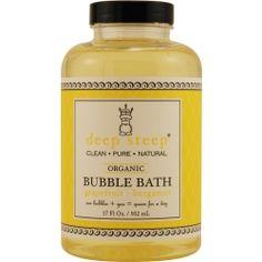 Deep Steep grapefruit-bergamot organic bubble bath