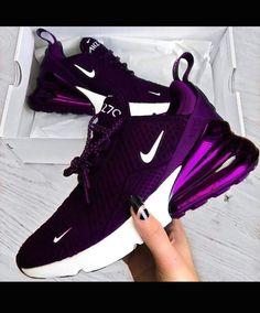 Purple Sneakers, Cute Sneakers, Shoes Sneakers, Wedge Sneakers, Purple Nike Shoes, Ladies Sneakers, Sneakers Design, Purple Nikes, Black Shoes