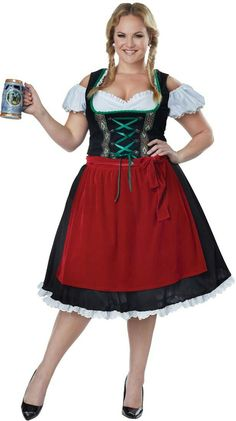 plus size oktoberfest fraulein costume plus size beer maiden costume - Scottish Girl Halloween Costume