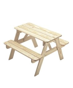 Take a look at this Unfinished Picnic Table on zulily today!