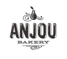 Super Furry - Anjou Bakery logo, distressed, one color, print