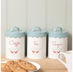 Gisela Graham Enamelware Tea/Coffee/Sugar Caddy - 24.00 - A great range of Storage gifts and homewares from The Contemporary Home Online Sh...
