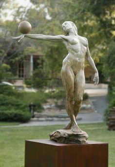 Balance (life size) Paige Bradley Bronze Sculpture 84 x 61 x 43 inches - statue Types Of Photography, Pose Reference, Figurative Art, Street Art, Fine Art, Half Life, Anatomy, Drawing, Felt