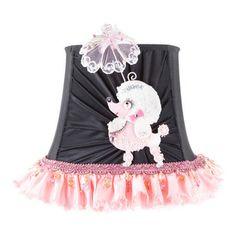 Brandi Renee Designs - All Lit Up Princess Pink Poodle Lamp Shade - Our All Lit Up Princess Pink Poodle lampshade will bring the perfect bit...