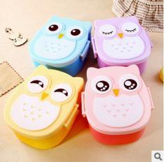 pastel owl bento| $5.59  kawaii pastel lolita owl hipster bento fachin kitchen home under10 under20 under30 free shipping aliexpress