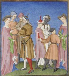 Publius Terencius Afer, Comoediae [comédies de Térence] ca. 1411; Bibliothèque de l'Arsenal, Ms-664 réserve, 59v