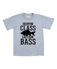 Loving this Heather 'Skippin' Class Catchin' Bass' Tee - Toddler & Boys on #zulily! #zulilyfinds