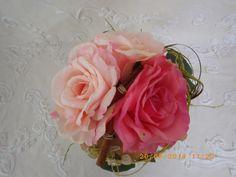 PIEZA UNICA CENTRO de mesa con rosas artificiales de AROMESICOLORS en Etsy