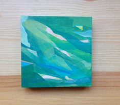 ^^^^^Abstract landscapes^^^^^  This listing is for one original oil painting on wood made by me! It is a little square which measures 5 x 5. The wood is 1 thick. The painting is signed on the back and is ready to hang as is, but also looks great when framed!    Feel free to contact me if