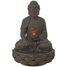 Majaran Sitting Buddha Lighted Fountain -