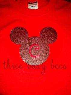Disney Shirts ~ Freezer paper stencil! Easy!