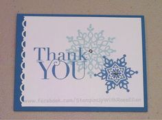 My Stamping Friends: New Stampers in my Stampin' Studio learning about Stampin' Up! and making a Thank You card with Festive Flurry and Another Thank You stamp sets