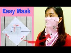 Instructions for making simple cloth masks to prevent influenza, if you do not have a sewing machine, you can sew your hands. Easy Face Masks, Diy Face Mask, Sewing Patterns Free, Free Sewing, Purse Patterns, How To Make Scarf, Fashion Face Mask, Diy Mask, Sewing For Beginners