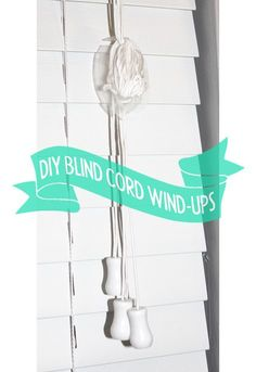 Holly Helps makes Child safety window blind cord wind-ups from trash! Totally free! Yess! | hollyhelps.tumblr.com