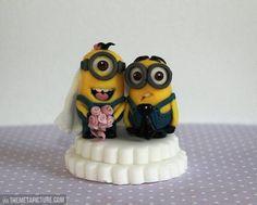 Minions wedding cake topper