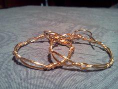 Gold Wire Twist Hoop earrings by DesignByTweet on Etsy, $6.00