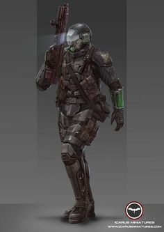 Alliance Galactic Marine.  Learn More: http://icarusminiatures.com/concept-art-preview-alliance-galactic-marines/
