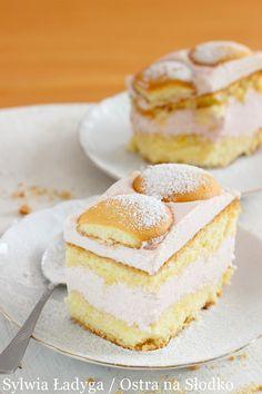 BUDYNIOWY BISZKOPT Z MALINOWĄ PIANKĄ Polish Recipes, Polish Food, Vanilla Cake, Tiramisu, Cake Recipes, Ale, Cheesecake, Deserts, Good Food