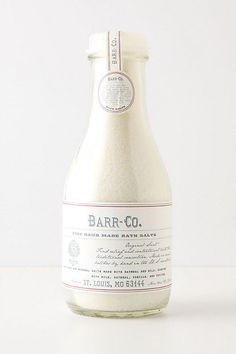 #typography, clean lines...simple, pretty  Barr-Co. Fine Handmade Bath Salts #anthropologie