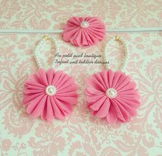 Baby barefoot sandals , pink flower, baby girl gift, baby shower gift, photo prop