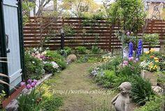 miyorinの秘密のお庭の画像|エキサイトブログ (blog) Enchanted Garden, Garden Landscaping, Stepping Stones, Cottage, Outdoor Structures, House Design, Landscape, Interior, Outdoor Decor