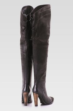 Affordable Thigh High Boots - Flat Lace Up Plus Size High Heel